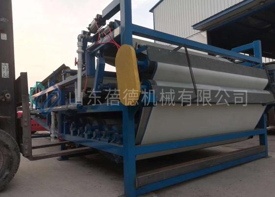 陕西渭南洗沙带式污泥压滤机项目